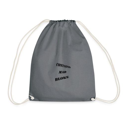 Contains Mad Bloke - Drawstring Bag