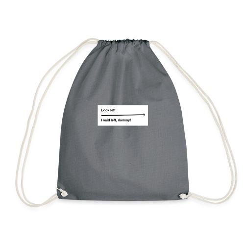 left and right joke - Drawstring Bag