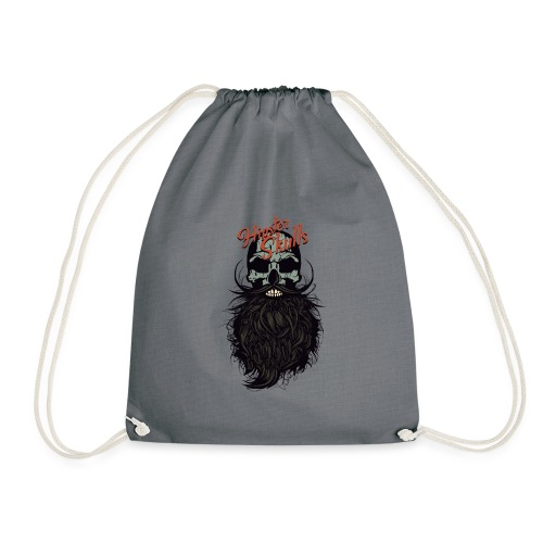 tete de mort hipster skull crane logo barbu barbe - Sac de sport léger