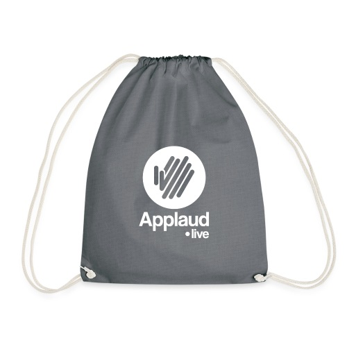 logo circle white 1x - Drawstring Bag