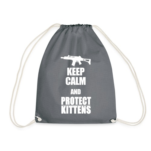 Keep Calm and Protect Kittens - Turnbeutel