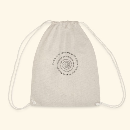SPIRAL TEXT LOGO BLACK IMPRINT - Drawstring Bag