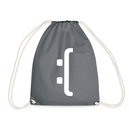 A 'Sad Face' Design :( , Designed by Browney. - Drawstring Bag