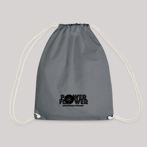 Logo PowerFlower Nero - Sacca sportiva
