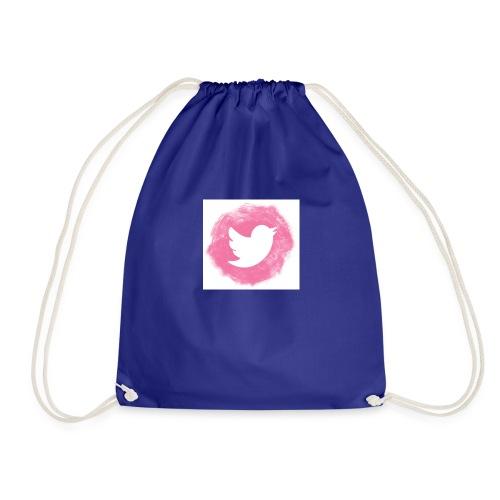 pink twitt - Drawstring Bag