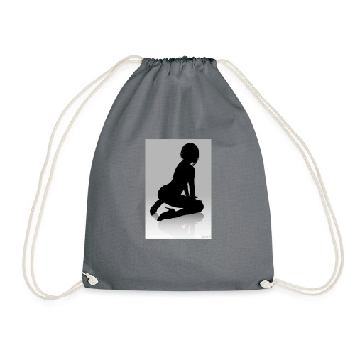 The Silhouette Is A Lady - Drawstring Bag