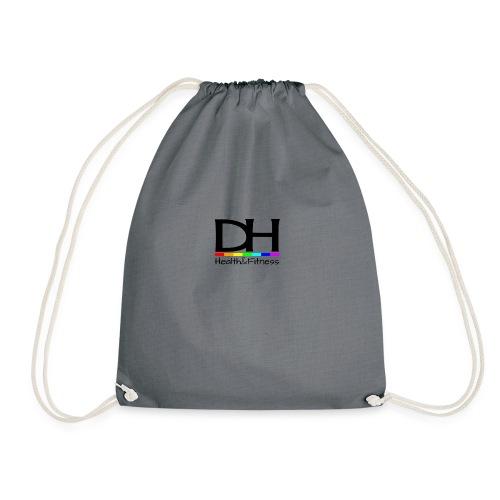 DH Health&Fitness Black Logo - Drawstring Bag