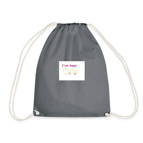 i am happy - Drawstring Bag