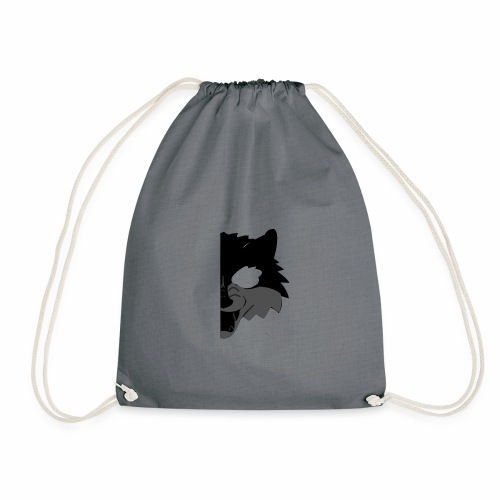 Wolf design swag black gray transparent - Sac de sport léger