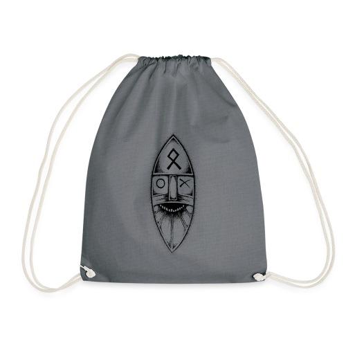 Odin / Wodan / Wotan Drawing - Drawstring Bag
