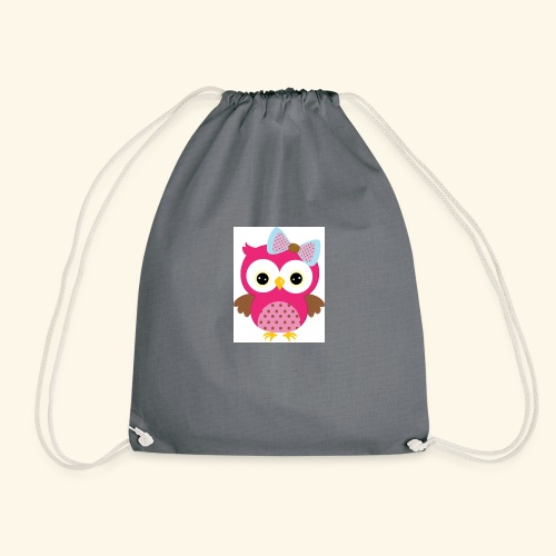 Girly Owl - Drawstring Bag