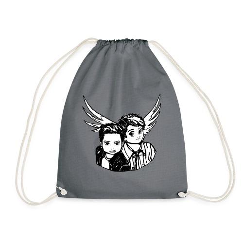 Destiel i sort/hvid - Sportstaske
