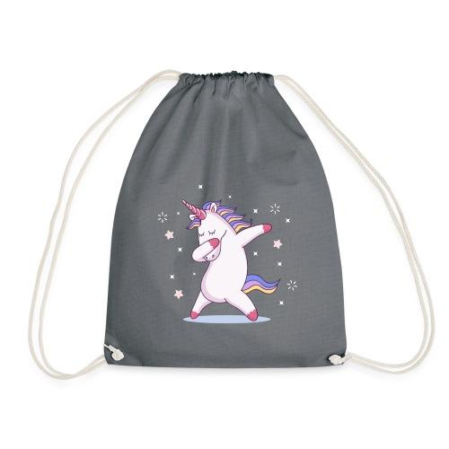 kids unicorn dab - Turnbeutel