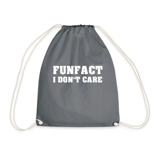 I do not care! | White - Drawstring Bag