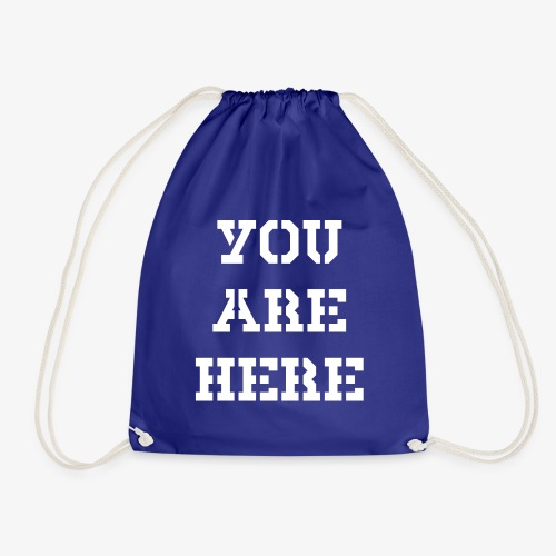 YOU ARE HERE - Turnbeutel