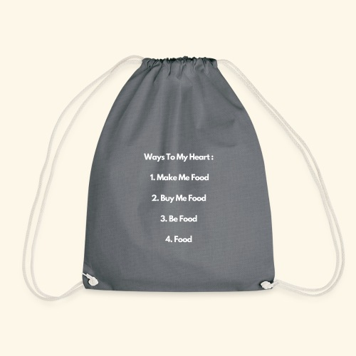 Food Lovers Funny Quotes Design, Foodies - Drawstring Bag