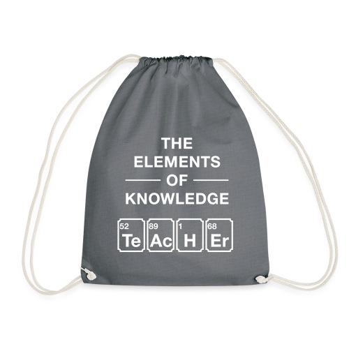 Lustig Periodensystem Lehrer Shirt Geschenk - Turnbeutel