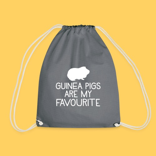 guinea pigs are my favourite - Drawstring Bag