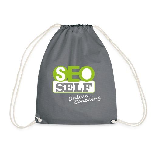 SEO SELF Logo mit weißer Subline - Turnbeutel