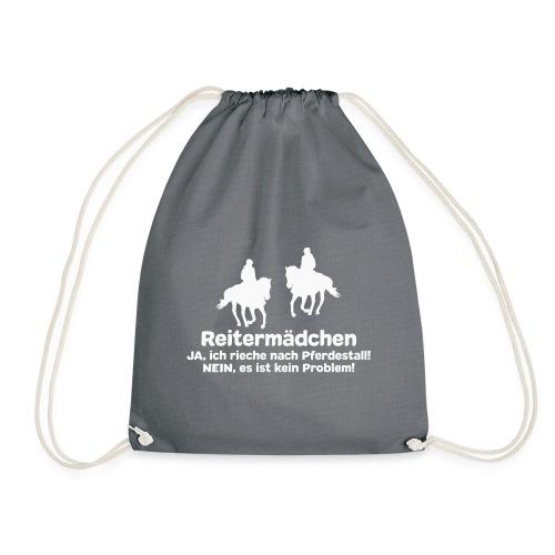 Reitermädchen Reiten Pferde Pferdespruch - Turnbeutel