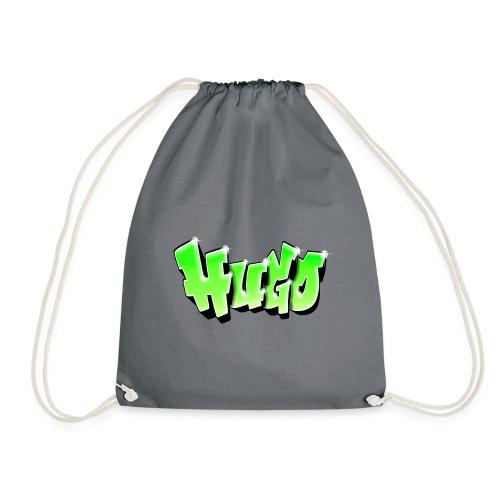 Graffiti Prénom Hugo Green - Drawstring Bag