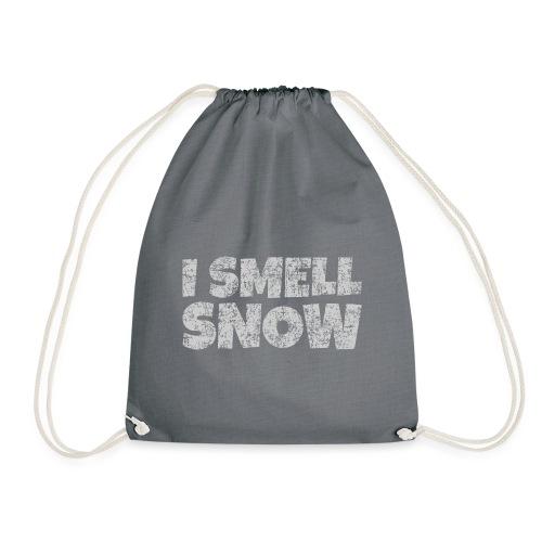 I Smell Snow (Grau) Schnee, Winter, Wintersport - Turnbeutel