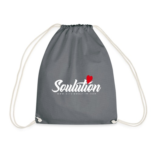 Soulution Logo – weiß - Turnbeutel
