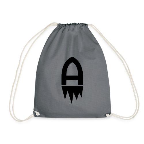 Adenite - Schwarzes Logo - Turnbeutel