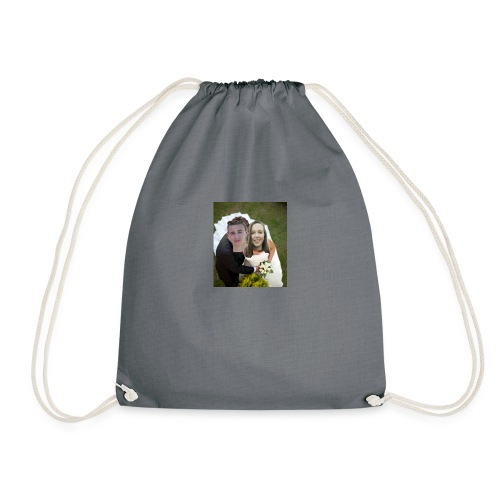 cute wedding photo - Drawstring Bag