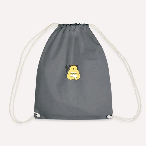 Cat Yoga Pose Print Design, Hoodie Other Apparels - Drawstring Bag