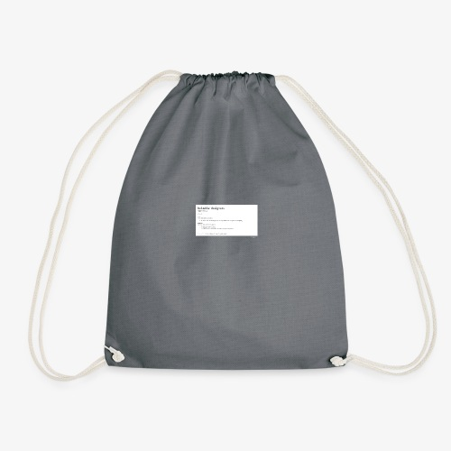 Industrial Designers' must have - Drawstring Bag