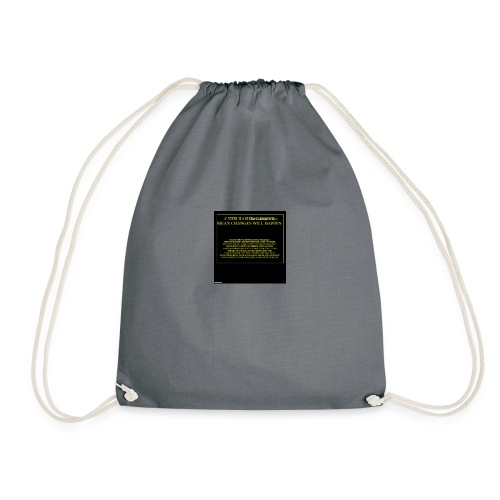 #HASHTAG TO CHANGE OPINIONS - Drawstring Bag