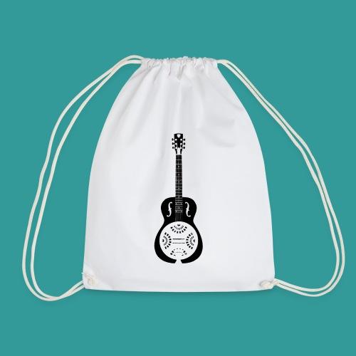 Blues Slide Guitar Stencil - Drawstring Bag