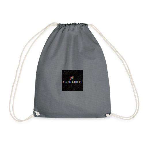 BK chameleon with crown - Drawstring Bag