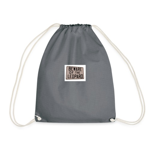 be ware of the leopard - Drawstring Bag