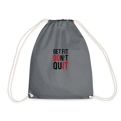 fitness quotes png - Drawstring Bag