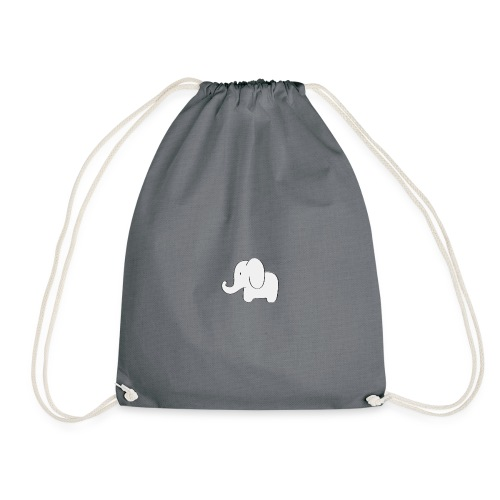 Little white elephant - Drawstring Bag