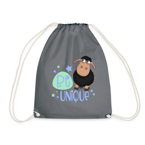 schwarzes Schaf: Sei einzigartig - unique Schaf - Drawstring Bag