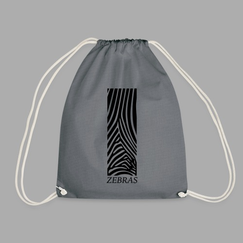zebras - Drawstring Bag