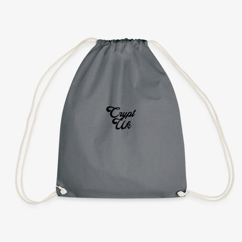 Black Square No Motto - Drawstring Bag