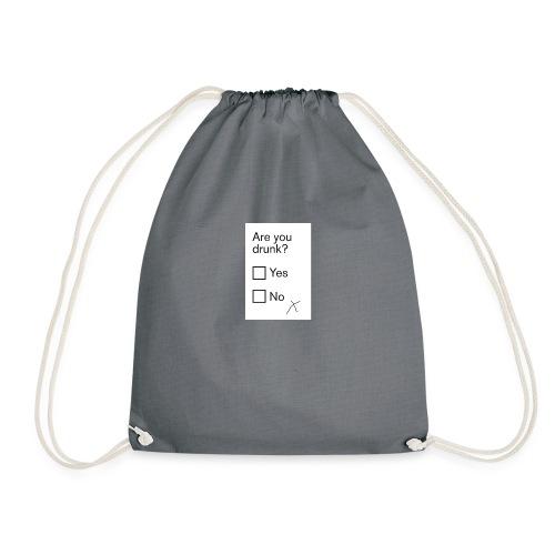 drunk pic - Drawstring Bag