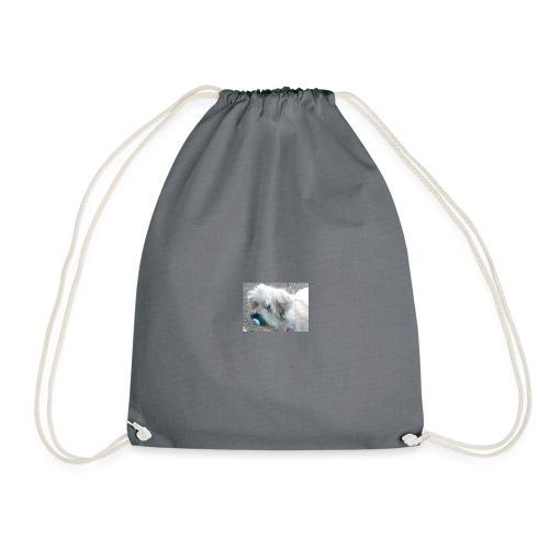 dog with dummy - Drawstring Bag