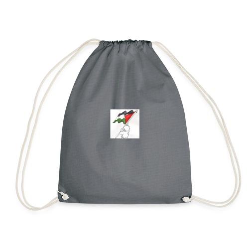 Hvid hættetrøje - Sportstaske