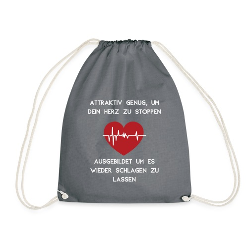 Herz stoppen Pflegekraft Attraktiv - Turnbeutel