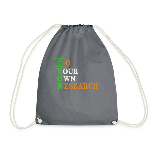 Do Your Own Research - DYOR - Cryptocurrency - Drawstring Bag