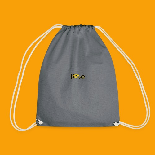 hive365 logo front and back and gold hoodie - Drawstring Bag