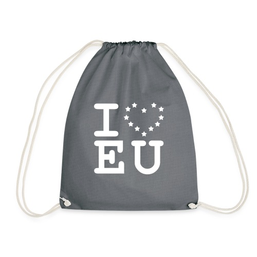 i love EU European Union Brexit - Drawstring Bag