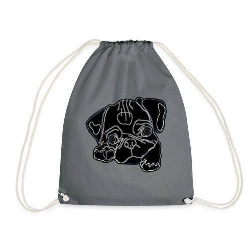 Pug Face - Drawstring Bag