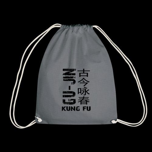 sidewaysgrayedlogo - Drawstring Bag