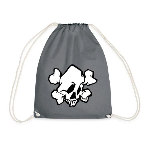 skull white ver01 fresh 86 - Sportstaske
